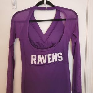 Baltimore Ravens womens mesh sleeve shirt